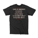 Americans Before Refugees T-Shirt (Front and Back)
