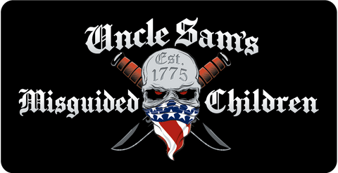 Uncle Sam's Misguided Children License Plate