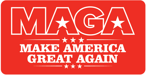 MAGA Aluminum License Plate