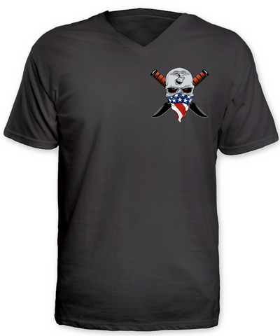 US Marines, Supporters and Family V-Neck T-Shirt (Front and Back)