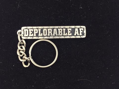 DEPLORABLE AF KEY FOB