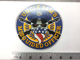 Misguided Officer Sticker 5""