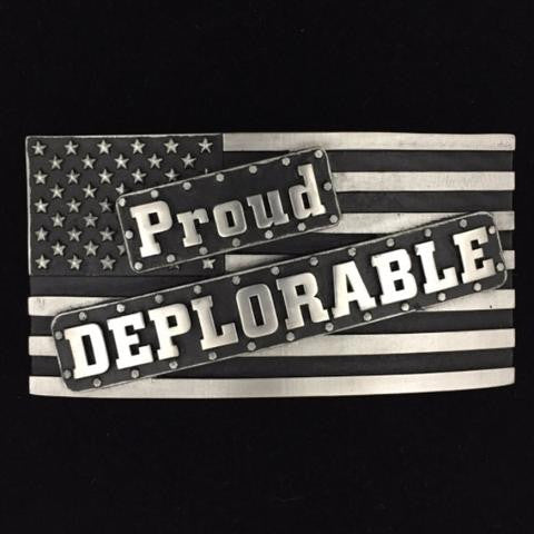 PROUD DEPLORABLE BELT BUCKLE