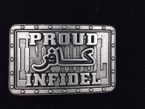 PROUD INFIDEL BELT BUCKLE
