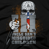 T-Shirt - Uncle Sam's Misguided Children Three Percenter closeup