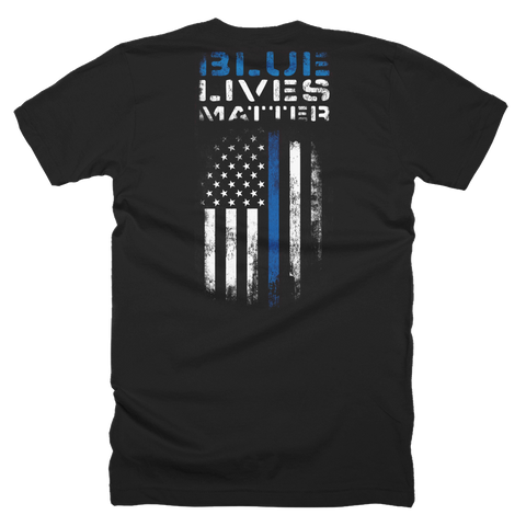 Blue Lives Matter T-Shirt (Front and Back)