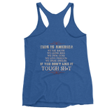 Women's Americans Before Refugees Tank Top (Front and Back)