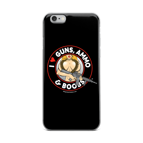Phone Cases - I Love Guns, Ammo, & Boobs IPhone Case