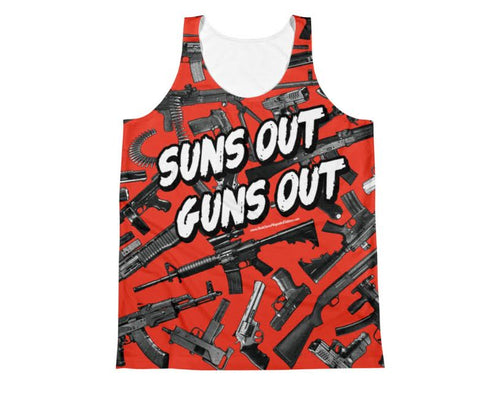 SUNS OUT GUNS OUT All Over Tank Top
