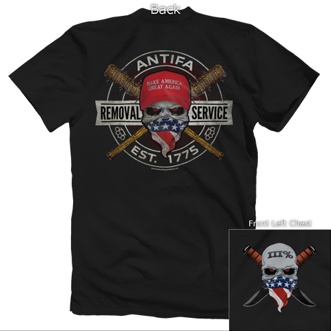 Removal Service Front and Back Tee