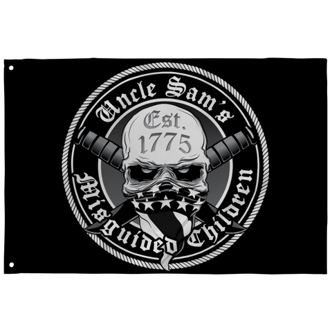 Uncle Sam's Misguided Children BLACK Flag