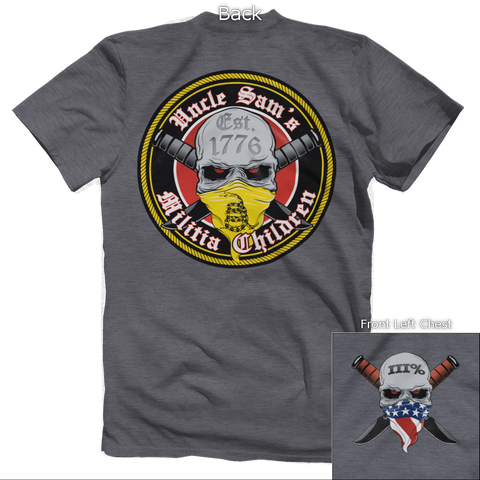 Uncle Sam's Militia Children (front & back) Tee