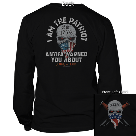 I Am The Patriot (Front and Back) Hoodie