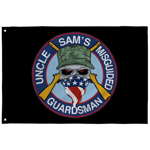 Uncle Sam's Misguided Guardsman Flag