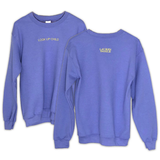 Look Up Child Lavender Crewneck
