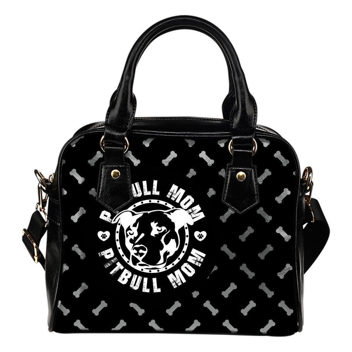Pitbull Mom Shoulder Handbag