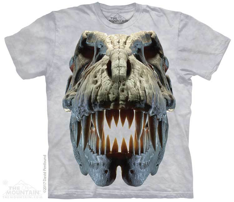Silver Rex Skull Youth T-Shirt