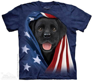 Patriotic Black Lab Pup T-Shirt