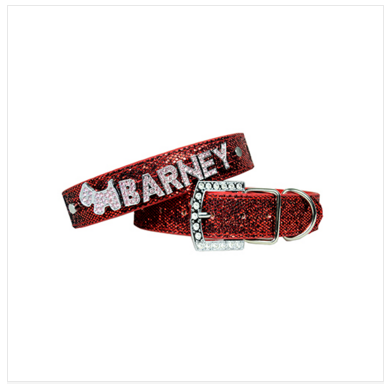 PU Leather Bling Personalized Dog Collar Customized Free Name Rhinestone Buckle Pink Letter