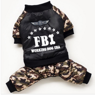 FBI Working Dog Padded Cotton Warm Coat