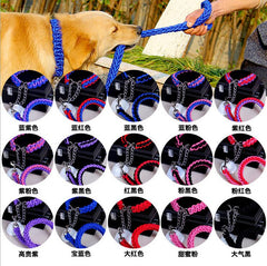 Beautiful Hand Woven High Quality MultiColor Rope Lead Leash and Collar Set for Dogs