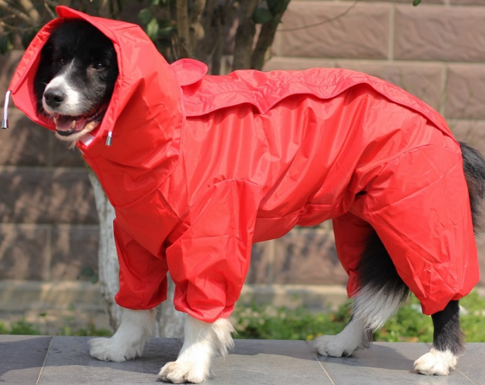 Dog Raincoat Clothes Waterproof Rain Jacket