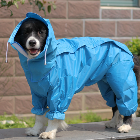 Image of Dog Raincoat Clothes Waterproof Rain Jacket