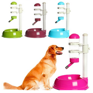 Deluxe Feeder Dish Bowl and Auto Water Drinking Dispenser for Your Dog or Cat
