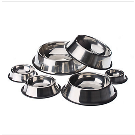 Anti-Skidding Pet Food Bowl for Dogs Cats Stainless Steel