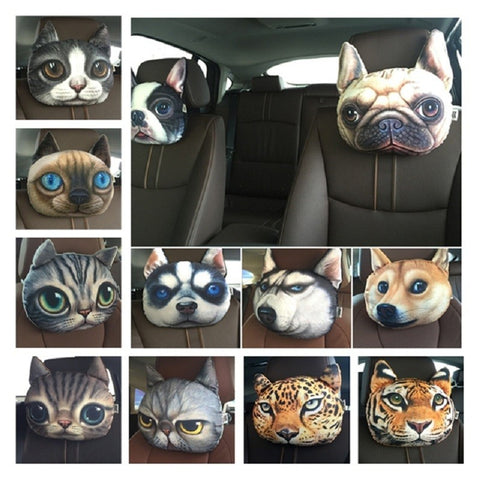 Creative Cartoon  Dog and Cat Personality Car Cushion or Throw Pillow Cute