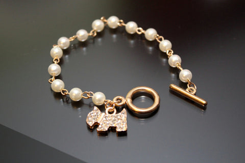 Pet Lover's Rhinestone Crystal Fashion Bracelet