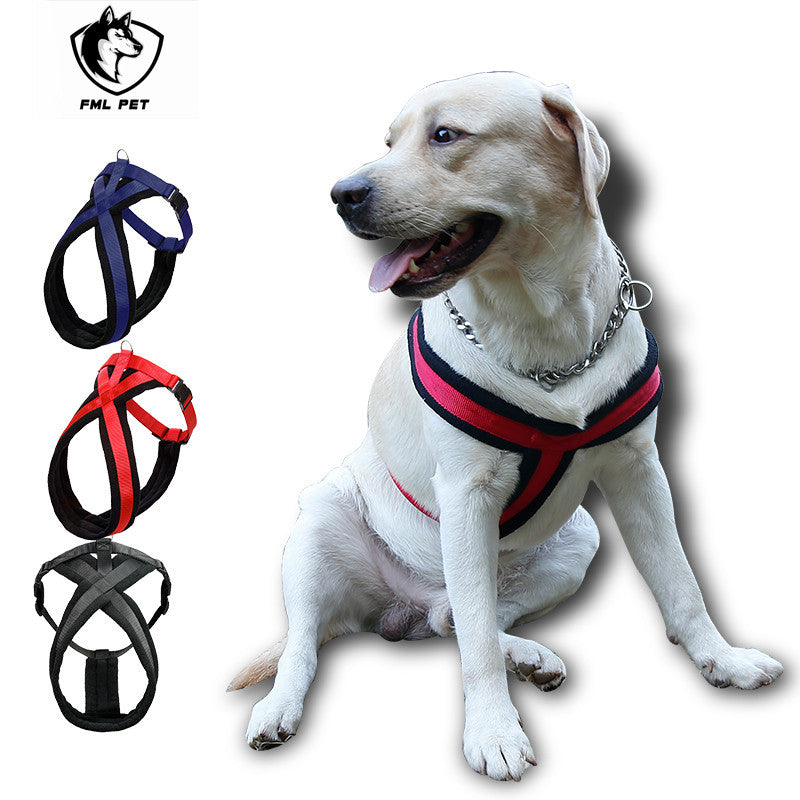 Comfortable Nylon Flannel Dog Harness  for the Medium to Larger Dog