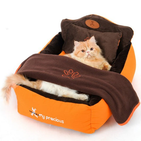 Luxury Pet Bed With Pillow Blanket
