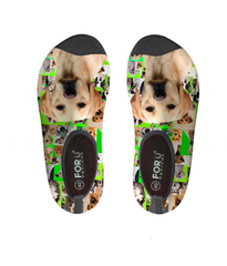 Funny Puppies Frame Design Sock
