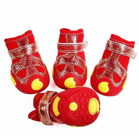 Waterproof Hot Pet Boots Cool Comfort Rubber