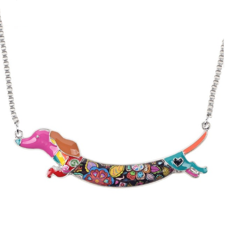 Pets Dachshund Dog Choker Necklace Jewelry