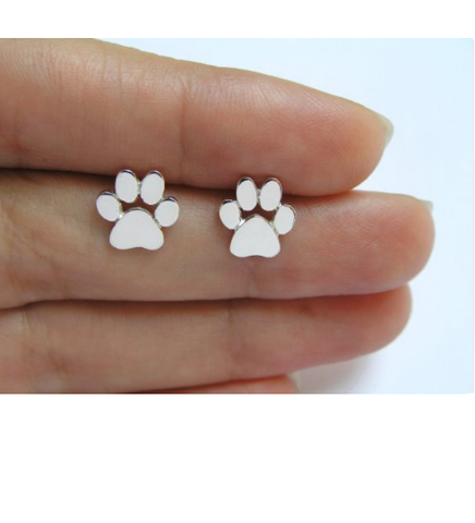 New Fashion Cute Paw Print Earrings Jewelry