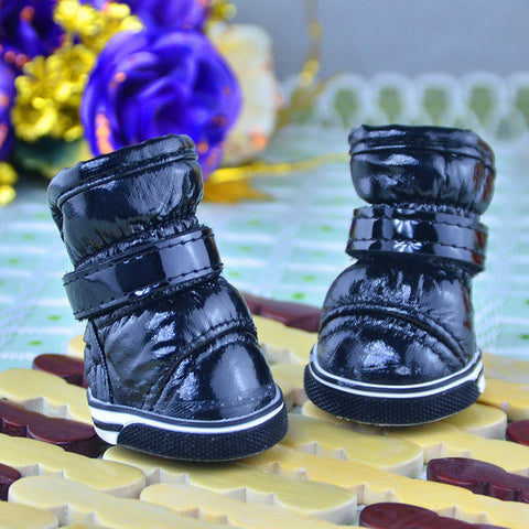 PU Leather Waterproof Warm Booties Boots