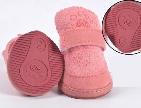 Non-slip Dog Cotton Waterproof Shoes