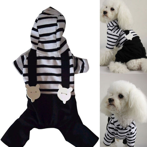 Hoodie Striped Black Pant Jumpsuit Clothes