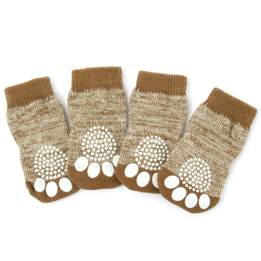 Pet Dog Warm Knit Cozy Anti Slip Dog Boots Socks