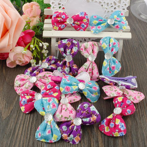 Floral Dog Hair Clip with Dimand Hair Accessories