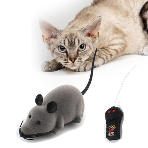 Image of RC Wireless Simulation Plush Mouse Toy For Pet Cat