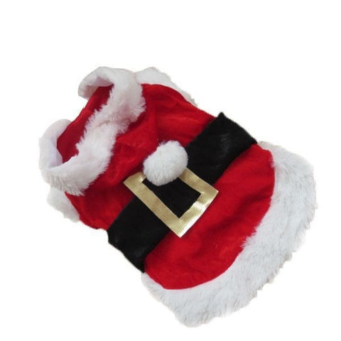 Puppy Dog Santa Claus Costume Hoodie