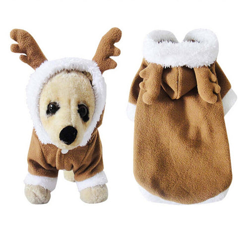 New Pet Dog Elk Deer Costume Clothes