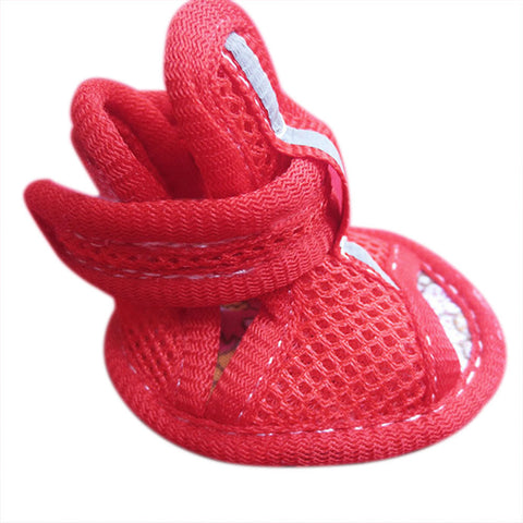 Small Pet Dogs Shoes Summer Mesh Breathable Boots