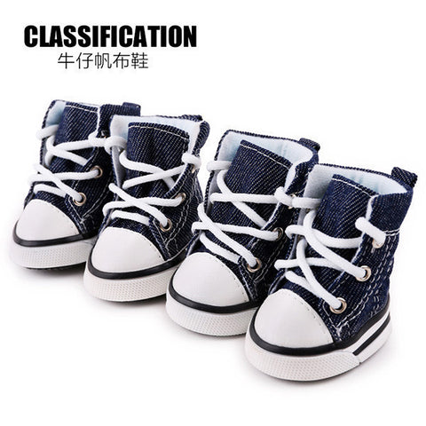 Image of Puppy Pet Denim Shoes Sport Casual Anti-slip