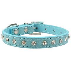 Rhinestones Diamante Soft Suede Collar