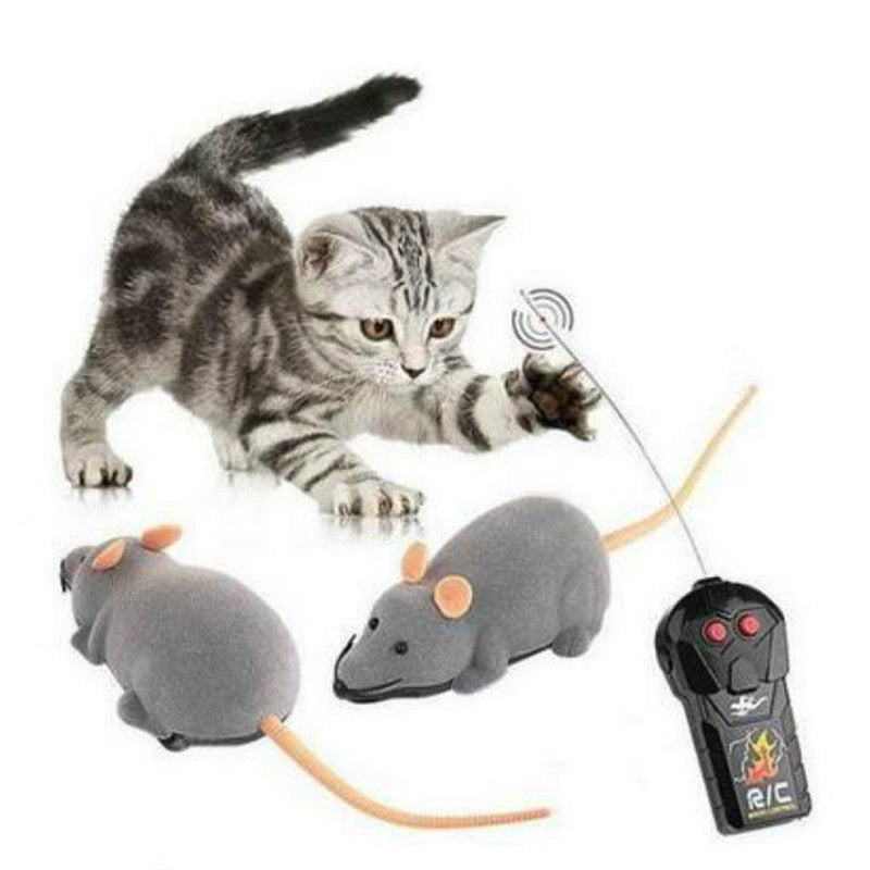 RC Wireless Simulation Plush Mouse Toy For Pet Cat