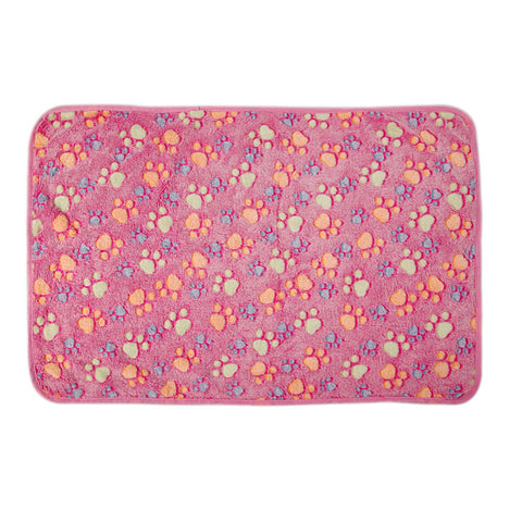 Cute Warm Pet Bed Mat Cover Fleece Blanket Mat